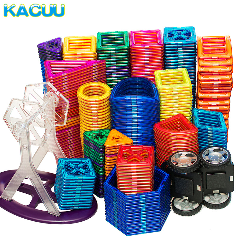 KACUU Big Size Magnetic Designer Magnent Building Blocks Model & Building Toys Brick Enlighten Bricks Magnetic Toys for Children new building blocks ninja emmet wyldstyle sheriff gordon zola bad cop robo swat brick toys for children l009 016