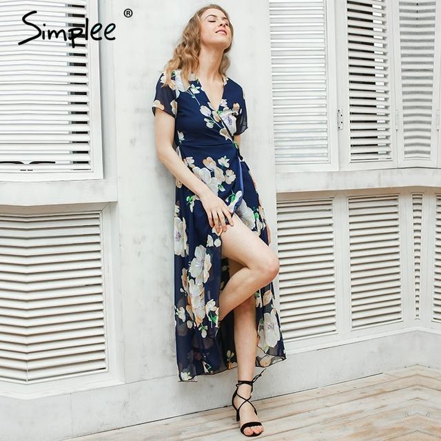 Sexy floral Summer Dress Maxi 2017