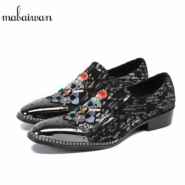 Mabaiwan New Fashion Men Shoes Indian Slippers Dress Shoes