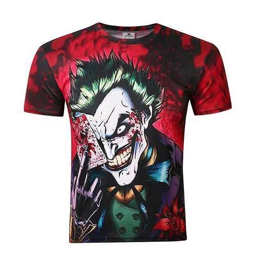 BIANYILONG брендовая одежда новая модная мужская/wo Мужская футболка 3d мультфильм Джокер с покерным цифровым принтом футболки летние топы Футболка M-5XL