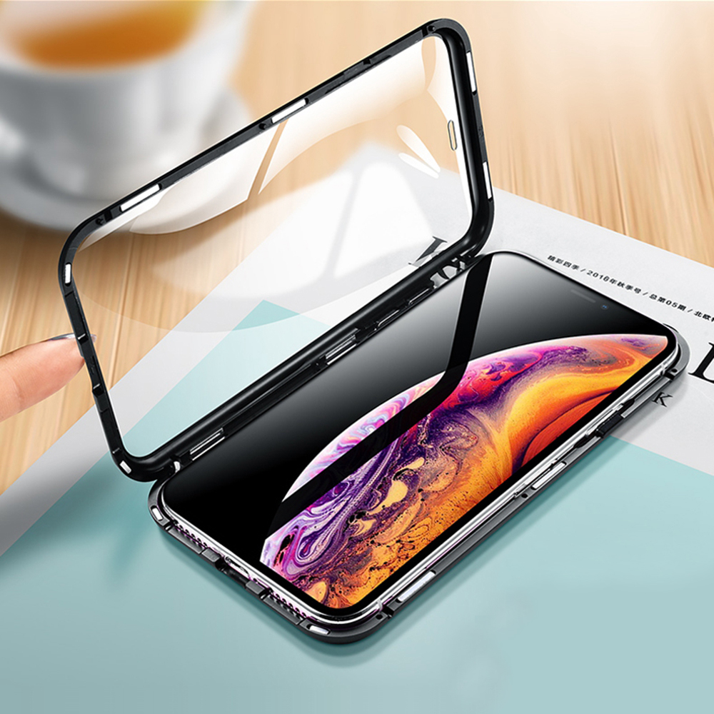 Eqvvol Metal Magnetic Adsorption Case For iPhone XS MAX X XR 8 7 Plus 6 6s