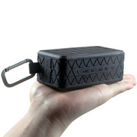 ブラックポータブル防水のbluetoothスピーカー屋外ワイヤレススピーカーusbサウンドボックスtfハイファイ1800 mah充電式バッテリー