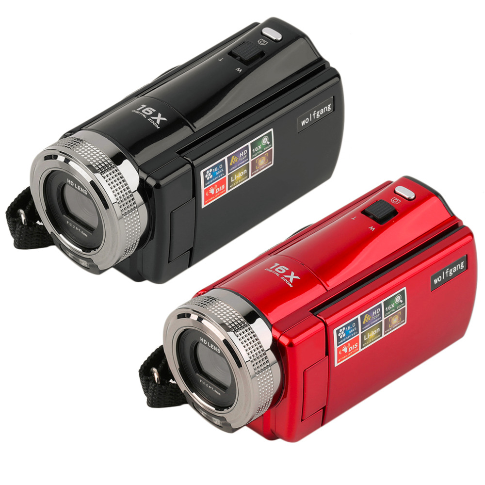 Prix pour Portable Caméra Vidéo 720 P HD 16MP 16x Zoom 2.7 ''TFT LCD numérique Vidéo Caméscope Caméra DV DVR Noir Rouge chaude dans le monde entier 2016