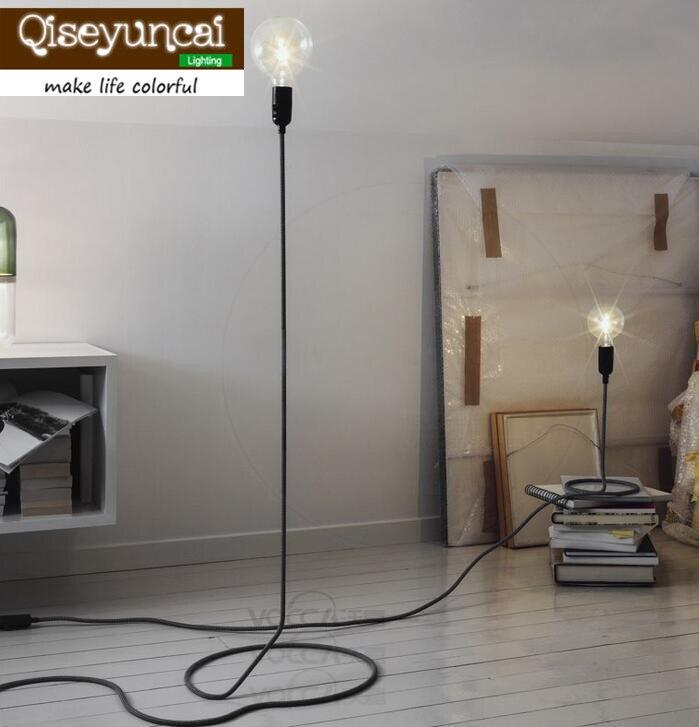 Qiseyuncai Loft minimalist modern floor lamp living room bedroom decorative lamp line creative study floor lamp