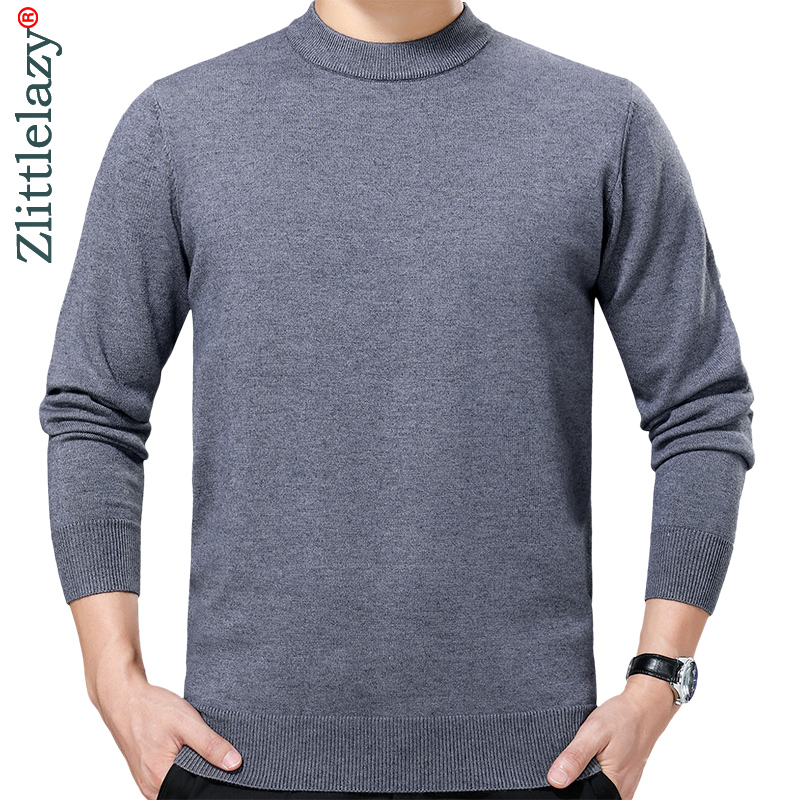 2019 Brand New Casual Autumn Winter Warm Pullover Knitted Solid Male Sweater Men Dress Thick Mens Sweaters Jersey Clothing 41222