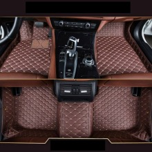 Car Floor Mats For BMW X1 F48 Custom Floor Mats 2016 2017 2018  Protection Waterproof Non-slip Leather Carpet Car Styling for fiat 500 brand pu leather wear resisting customize car floor mats black grey brown non slip waterproof 3d car floor carpets