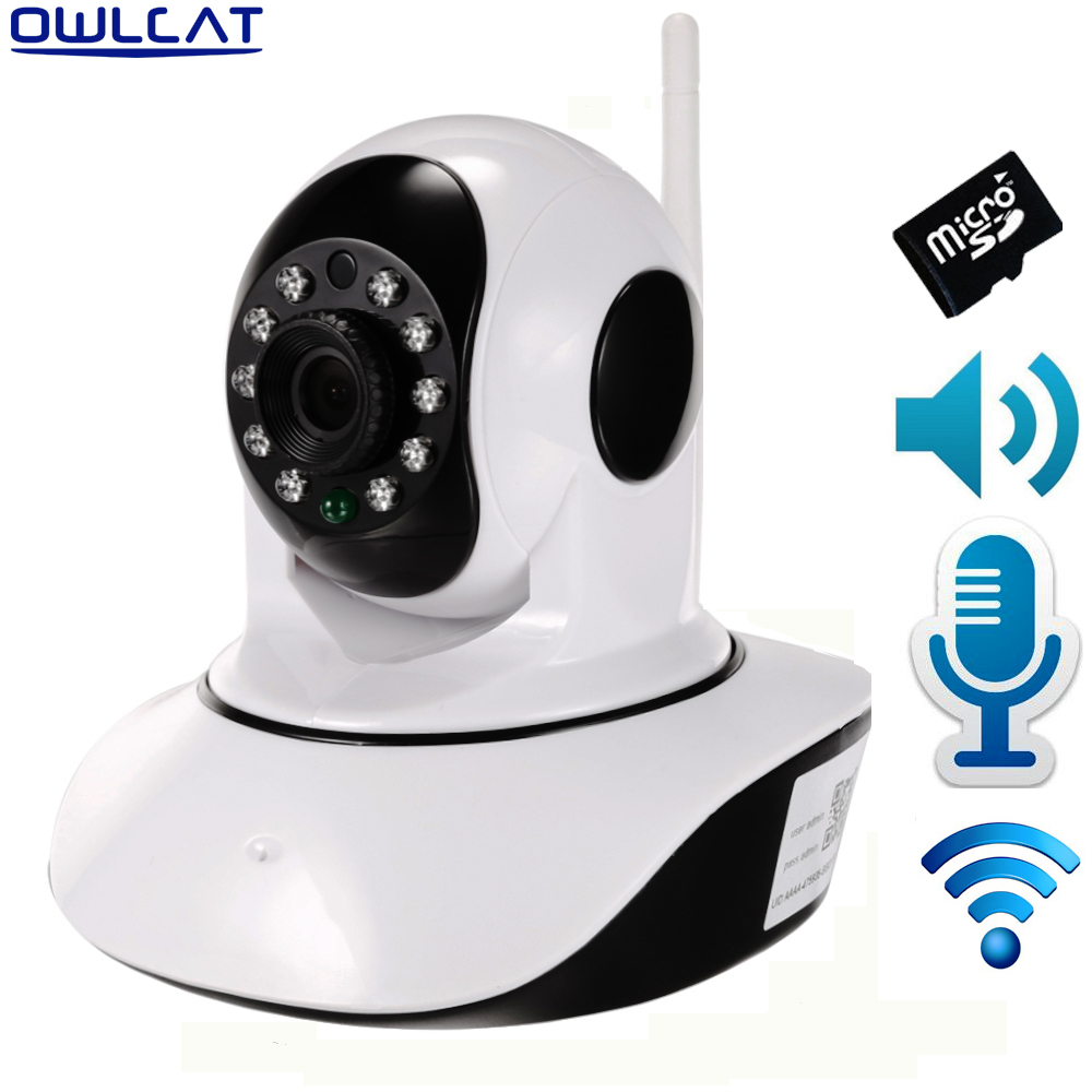 Wireless 1080P 720P Dome WIFI IP Camera IR Cut Night P2P Security camera Audio CCTV Onvif Temperature humidity sensors SD Card audio wireless explosion proof 720p 1 0mp dome ip camera support p2p onvif hpone view cctv security camera free shipping