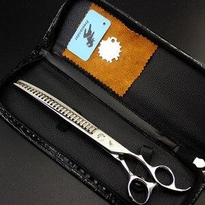 Image 4 - Freelander8.0 pulgadas tijeras profesionales para perros tijeras de aseo para mascotas herramienta de pulido tijeras de adelgazamiento de alta calidad