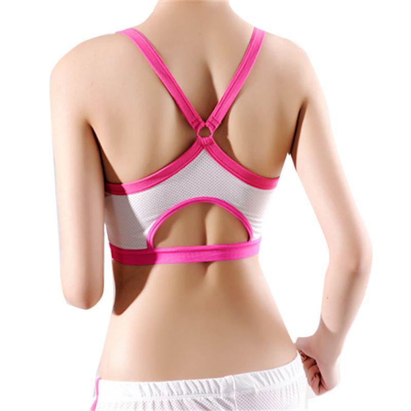 Sports Bras Realistic New Stylish Women Fitness Yoga Tank Tops Sports Bra Breathable Push Up Bras Leisur Shakeproof Underwear Seamless Athletic Vest Strengthening Sinews And Bones
