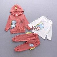 Ship by DHL Factory Price Wholesale 200pcs/lot Girls Sport Suit Children Winter Girls Clothes Set Coat+T-shirt+Leggings 3pcs