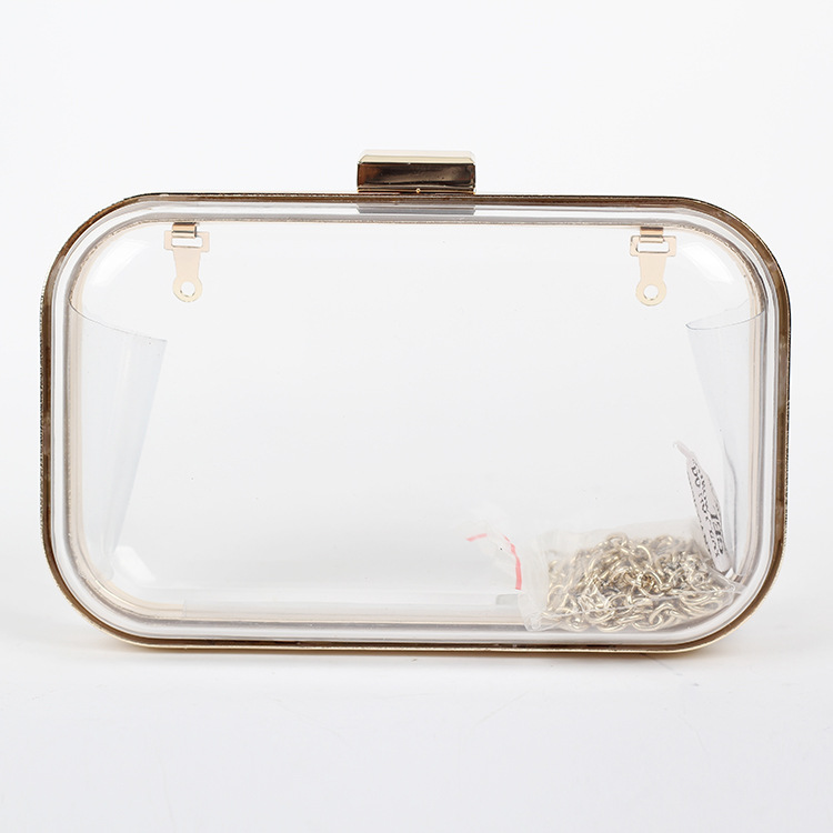 Candy Color Lady Clear Clutch Bag New Women S Transpa Evening Bags Day Clutches Acrylic Handbags With Chain 7color B229 In From Luggage