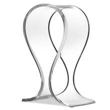 1pc New Universal Acrylic Earphone Headset Hanger Clear Holder Headphone Desk Display Stand