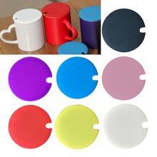 Универсальная Пыленепроницаемая крышка чашки общий силикон крышка для чашки теплоизоляция крышка чашки Пыленепроницаемая герметичная многоразовая чашка