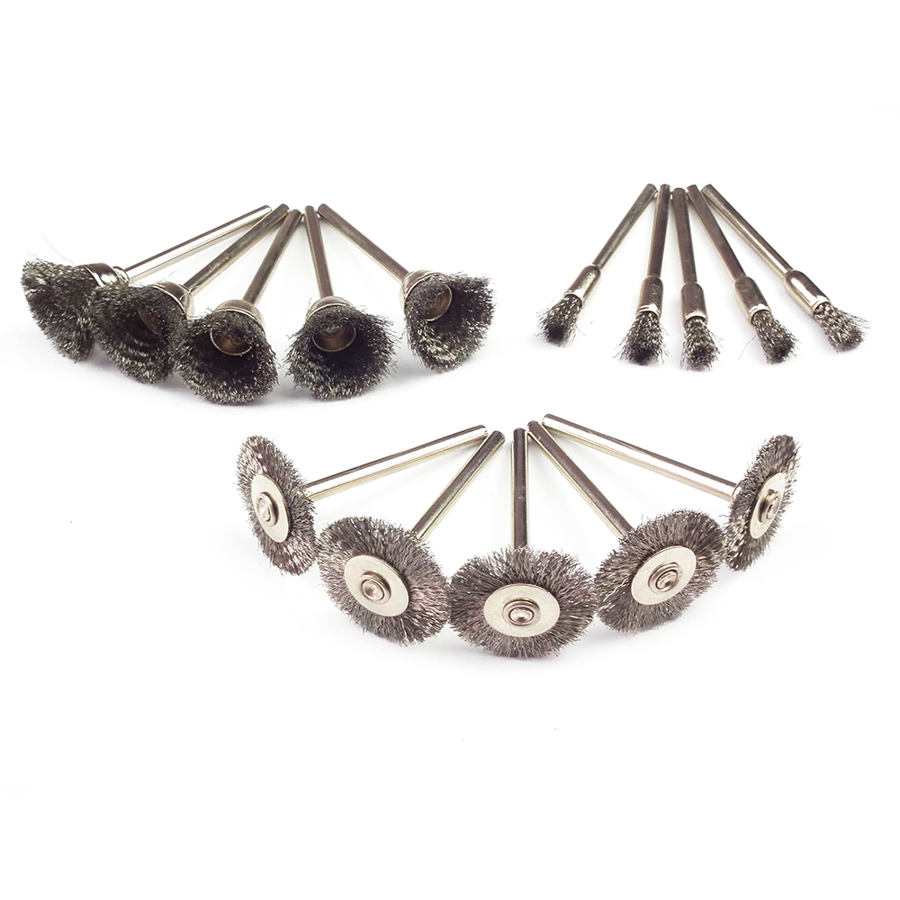 15st ståltrådhjulborste dremelverktyg tillbehör roterande verktyg - Slipande verktyg - Foto 1