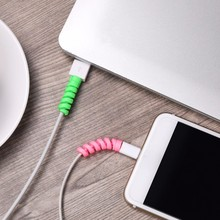 Cable-Protector Protective-Cable-Cover Universal Headset Earphone-Winder for iPhone Data-Line