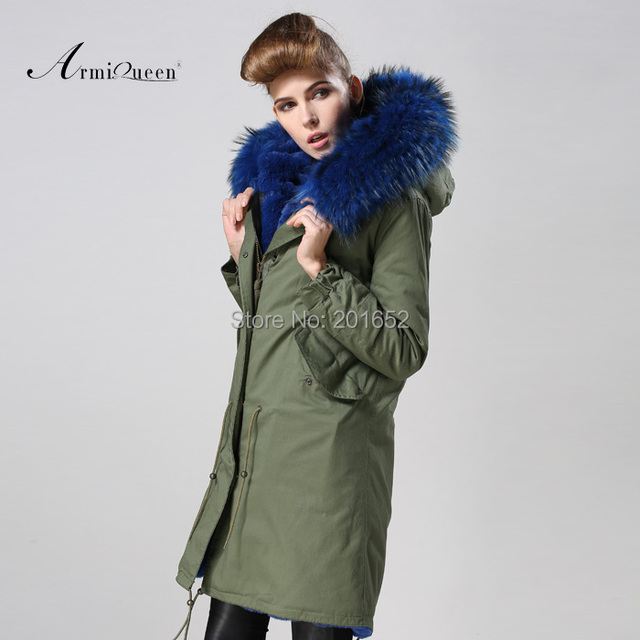 Women raccoon Winter Warm Parka high quality Faux Fur parka Hooded Coat Overcoat Tops Women's Fur Jacket 5