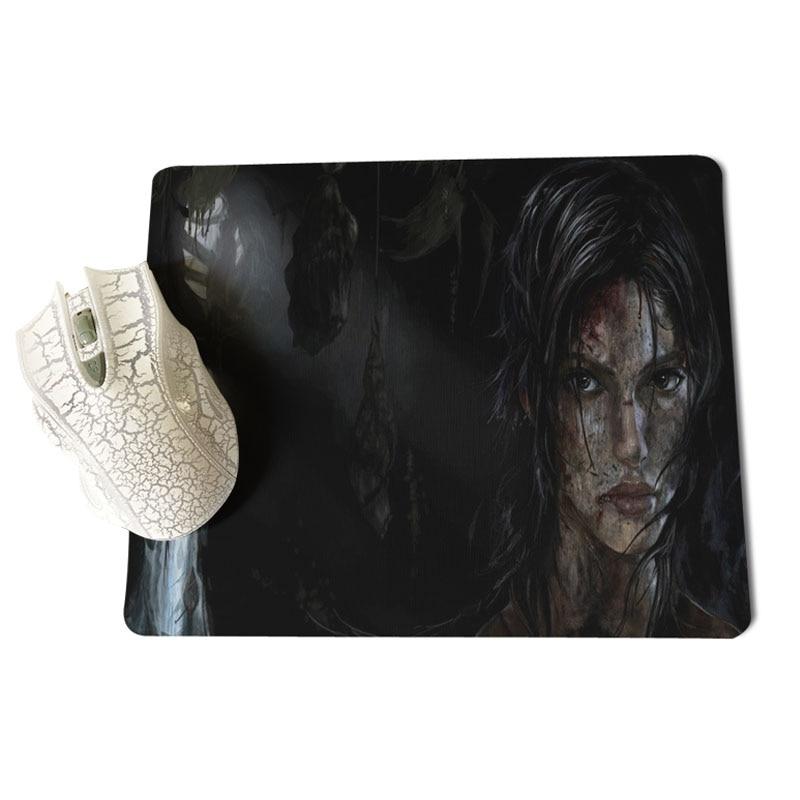 MaiYaCa Tomb Raider Anti-Slip Durable Silicone Computermats Size for 25x29x0.2cm Gaming Mousepads