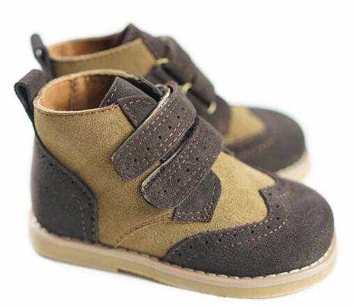 2018 Spring new High quality Genuine Leather Children boot Casual boys shoes Non-slip fashion kids shoes hot sale