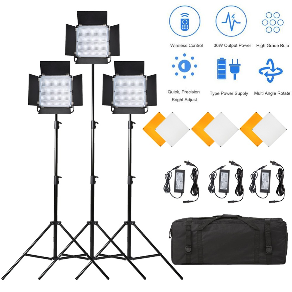 3pcs Pixel K80 Video Lampă de umplere LED 600pcs Becuri 2.4GHz - Camera și fotografia - Fotografie 1