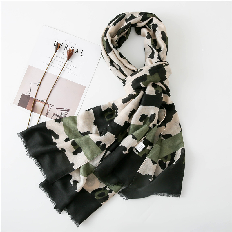 Image 3 - Women Fashion Sexy Leopard Dot Fringes Viscose Shawl Scarf Autumn  Winter Wraps and Scarves Pashmina Foulards Stole Muslim HijabWomens  Scarves