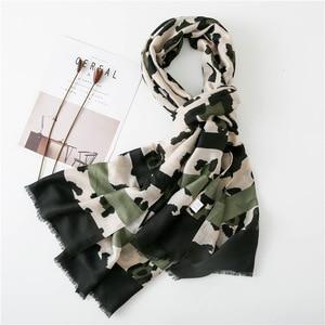 Image 3 - Women Fashion Sexy Leopard Dot Fringes Viscose Shawl Scarf Autumn Winter Wraps and Scarves Pashmina Foulards Stole Muslim Hijab