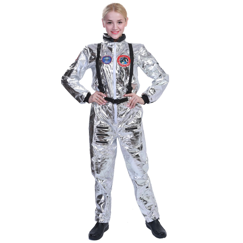 Women Astronaut Jumpsuits Cosplay Costume Female Spacesuit Universe Star Clothing Purim Festival Party Clothes Performance Props