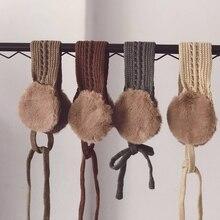 Детский зимний шарф в Корейском стиле, шарфы для маленьких девочек, утепленный детский шарф с подкладкой, теплый шарф для ребенка
