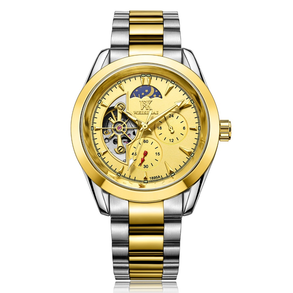 Brand Luxury full stainless steel Watch Men Business Casual Watches Military Mechanical Wristwatch waterproof Relogio SALE reloj hollow brand luxury binger wristwatch gold stainless steel casual personality trend automatic watch men orologi hot sale watches