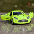 Gift for boy 1:32 14.5cm Aston Martin ONE - 77 car souvenir vehicle creative alloy model acousto-optic pull back game toy