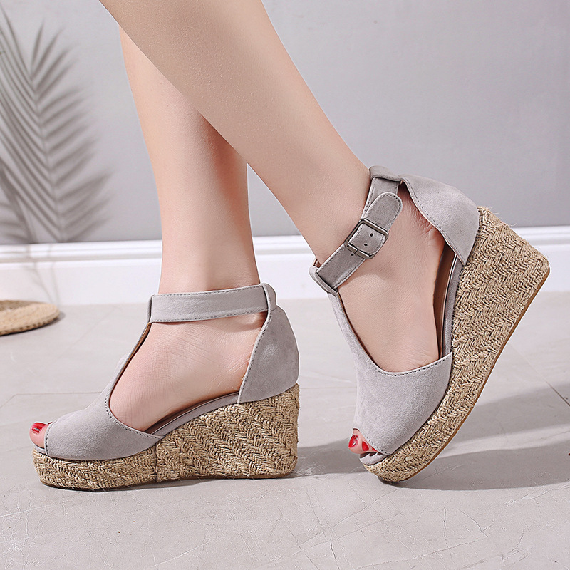 2019 casual womens sandals fish mouth wedge sandals summer womens sandals2019 casual womens sandals fish mouth wedge sandals summer womens sandals
