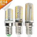 E14 Lâmpadas LED De Milho 64 pcs 104 pcs SMD 3014 Mini Holofotes 220 V 7 W 9 W E14 LEDs Lâmpada Lâmpada Para Lustre Lustre de Cristal de Silicone