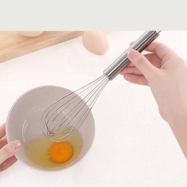 (6/8/10/12 Inches) Stainless Steel Egg Beater Hand Whisk Mixer Kitchen Tools Butter Blender Schneebesen Batidor de huevos 3