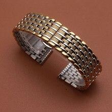 Watch Band Strap stainless steel watchbands fit beautiful Wristwatch 18mm 20mm 22mm bright dress quartz watch strap accessories