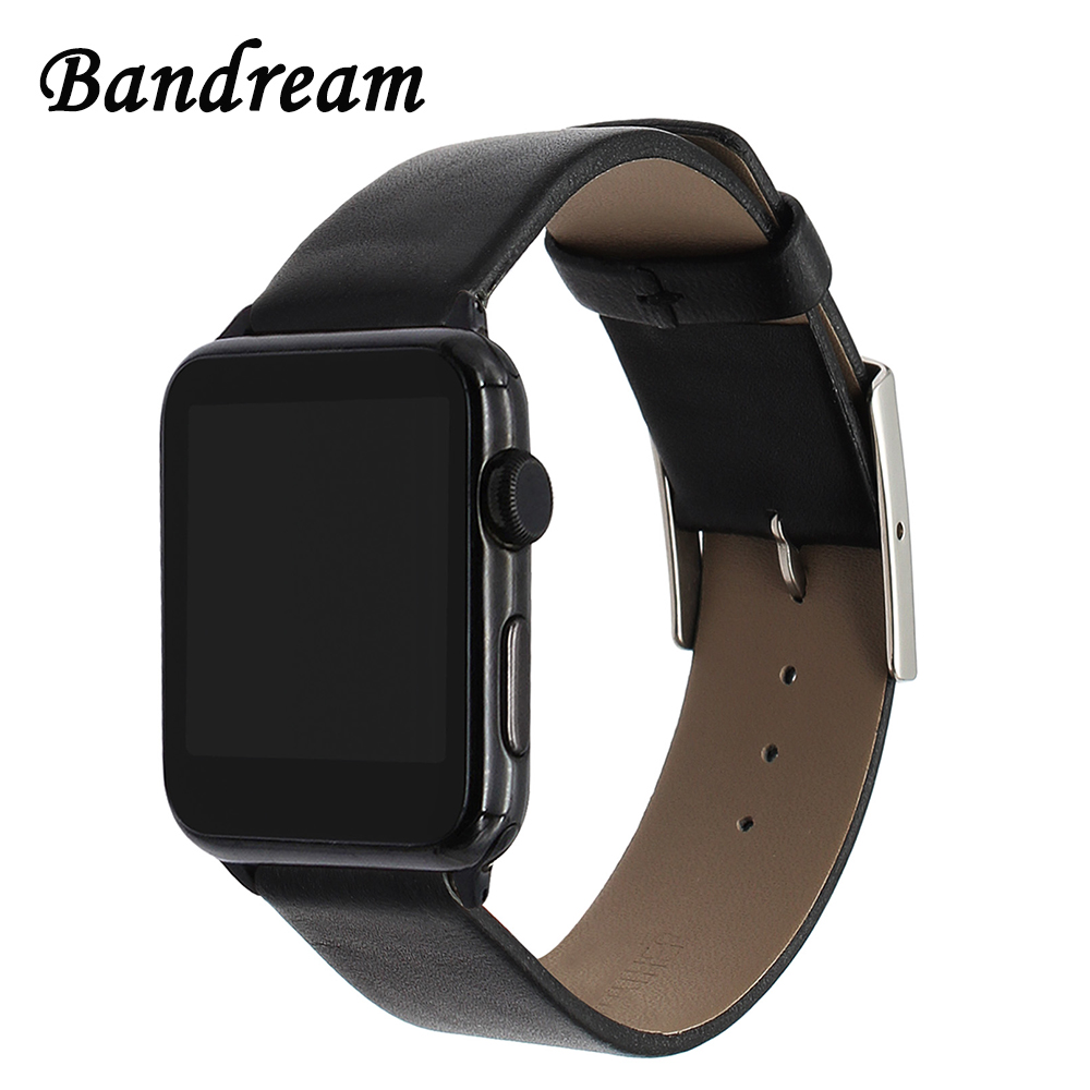 Italy Genuine Oil Leather Watchband for iWatch Apple Watch 38mm 40mm 42mm 44mm Series 1 2 3 4 Strap Steel Buckle Band Wrist Belt leather for apple watch band 38mm 42mm butterfly buckle strap iwatch series 4 3 2 1 watchband replacement accessories wrist belt