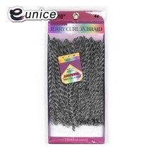 Eunice Grey Kinky Twist Crochet Hair Heat Resistant Synthetic Braiding