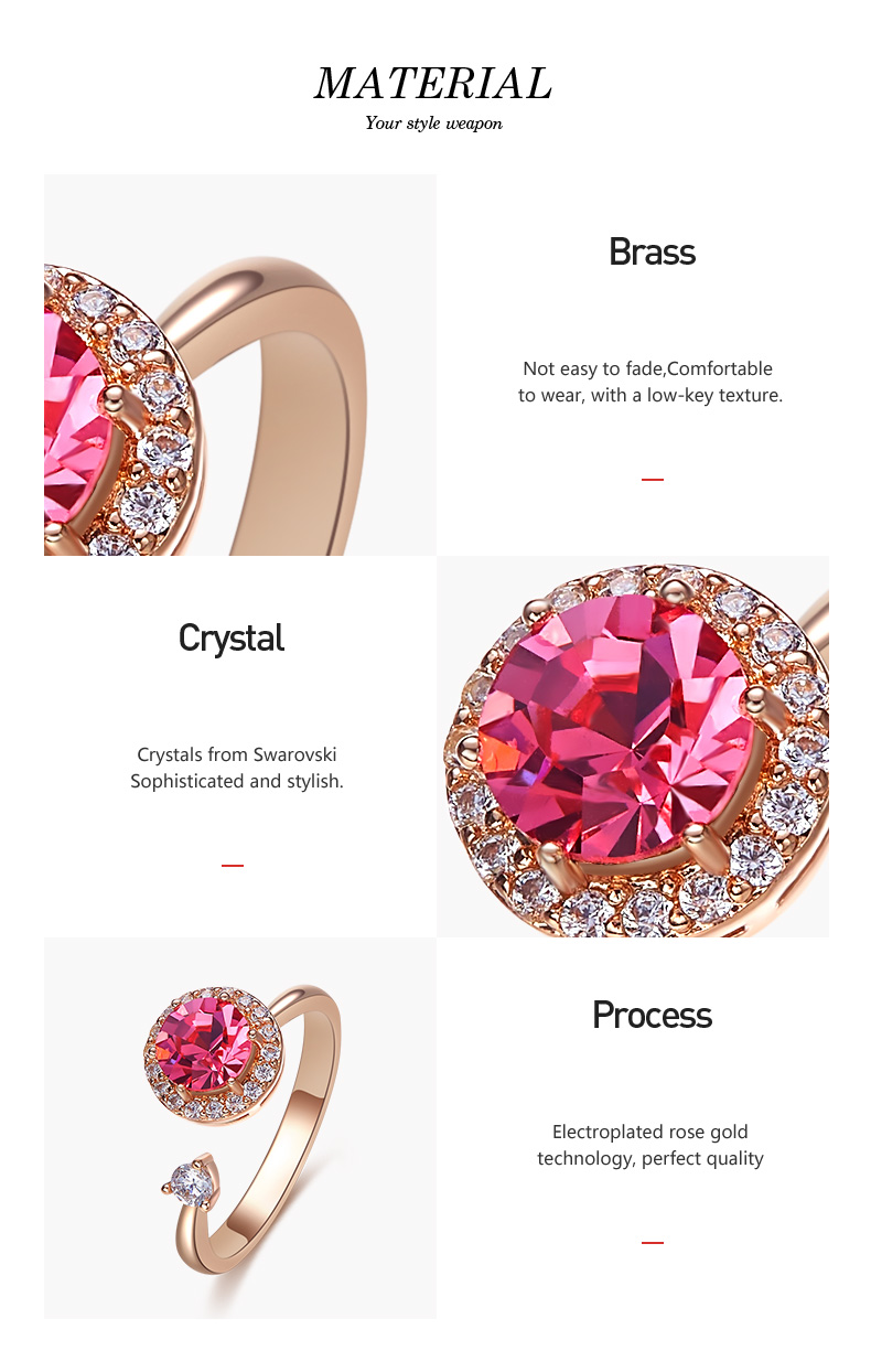 Pink Crystals Rose Gold Ring (4)