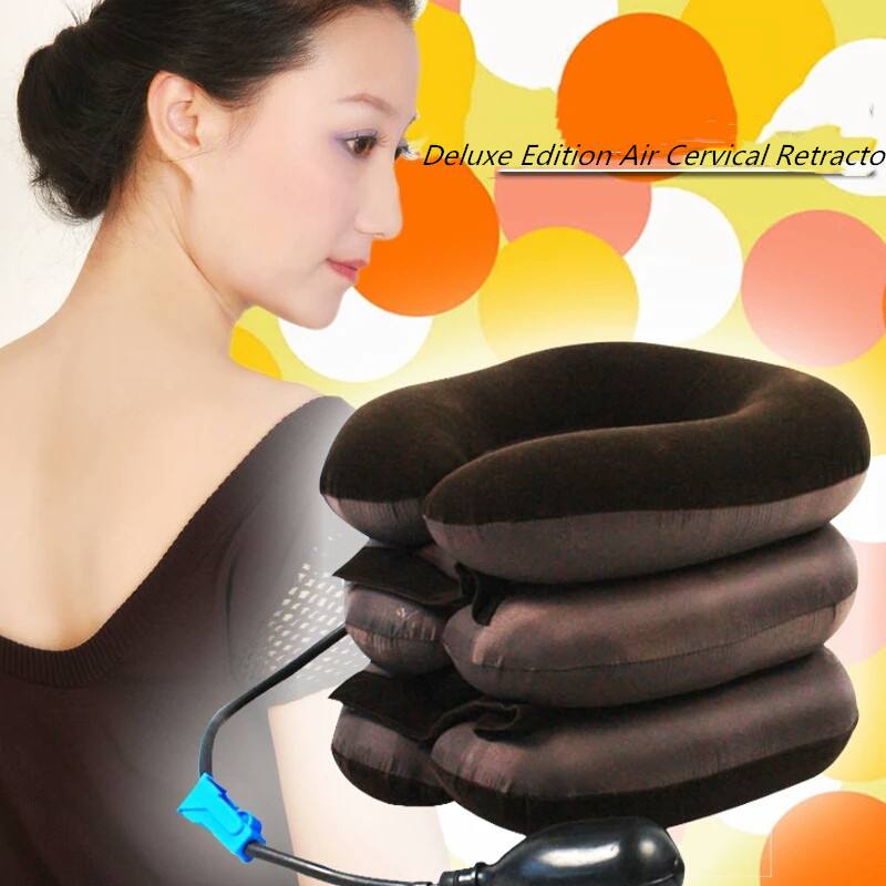 Air Cervical Soft Neck Brace Device Headache Back Shoulder Pain Cervical Traction Device Comfortable Neck Massage RelaxationAir Cervical Soft Neck Brace Device Headache Back Shoulder Pain Cervical Traction Device Comfortable Neck Massage Relaxation