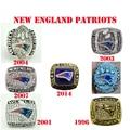 Drop Shipping 7pcs /set 1996,2001.2003,2004,2007,2014 Super Bowl New England Patriots Championship Ring Big Size 11 champion