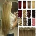 """Liquidação mais barato 26 """" Long 140 g estilo reto extensão do cabelo sensação suave cabelo sintético 16 cores clipe em Mega"""
