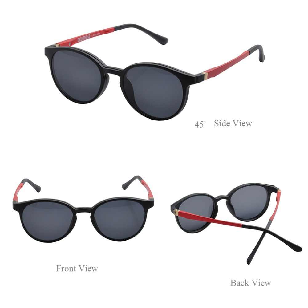 6905d99715c7 ... Women s magnetic snap-on sunshade sets Clip-on Sunglasses Polarized  Magnetic lens Tortoise Polarized ...