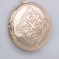 N113 Fashion locket pendant delicate  jewelry anka pattern cross locket necklace