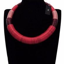 Multicolor Handmade African Style Fabric Rope Bohemia Ethnic Festival Choker Bib Necklace BK