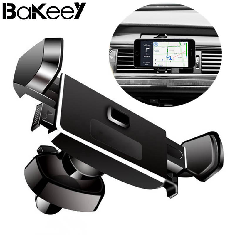 High Quality Bakeey Touch Linkage Anti-scratch 360 Degree Rotation Car Phone Holder Stand for Samsung for-iPhone X