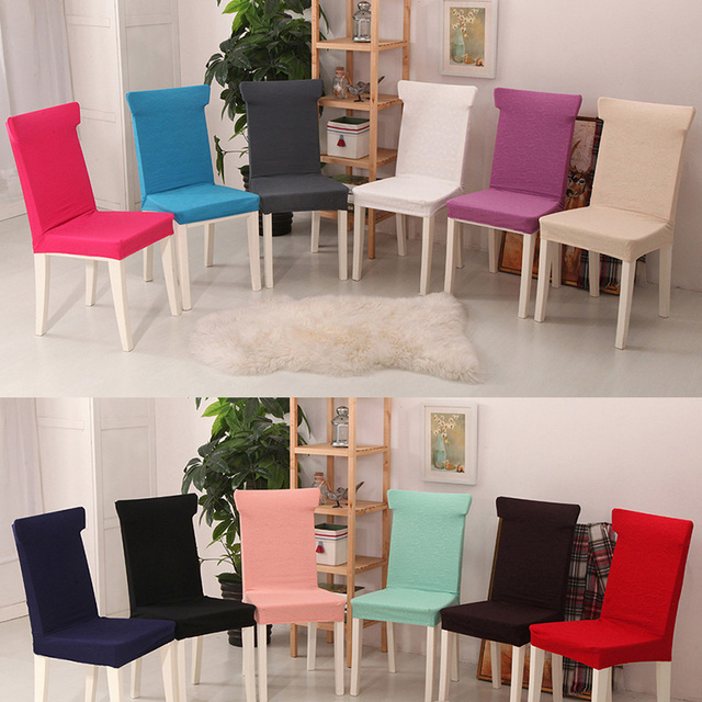 Knitting Elastic Stretch Spandex Jacquard Chair Covers For Weddings Holiday Christmas Kitchen Dining Room Seat