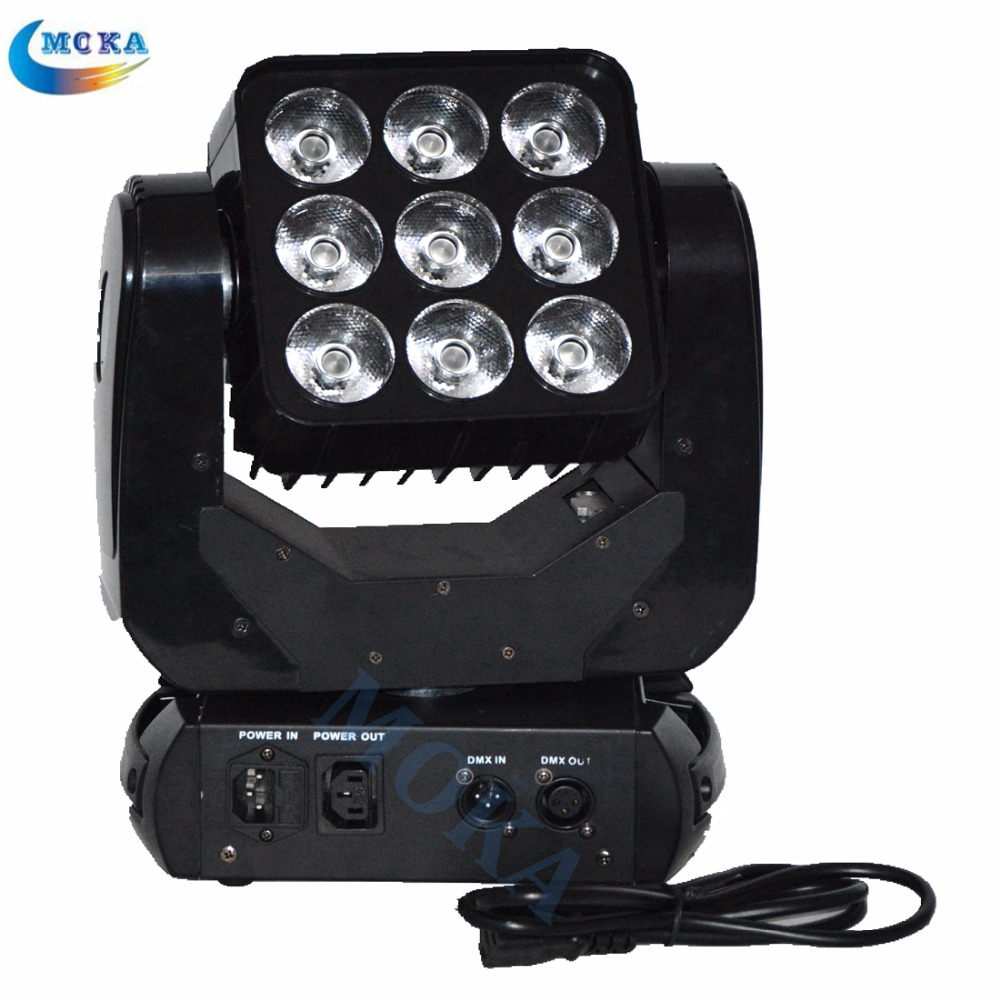 2PCS/lot 9x10W Cree RGBW 4in1 Full-color LED Dmx Led Stage Lighting Matrix Moving Head Light