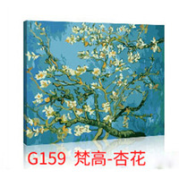 Hot Selling DIY Painting Framed Picture Painting By Numbers Handwork Draw On Canvas Wall Sticker Home