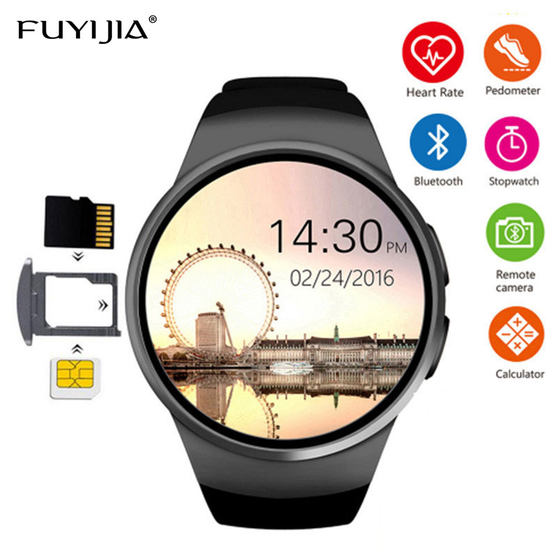 FUYIJIA Hot SIM Card Phone Watch Man Business Smart Watch Men's Woman Smartwatch Bluetooth Multi-language Menu Waterproof Clock