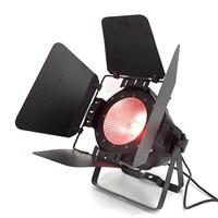 200W COB LED par light With Barn Doors RGBWA UV 6in1/RGBW 4in1/RGB 3in1/ Warm White Par64 led wash dj light Stage Dmx controll