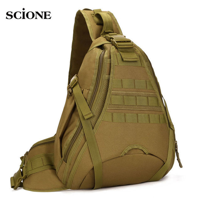 Men Tactical Backpack Single Shoulder Bag Chest Bags Molle Army Military  Crossbody Outdoor Camping Sling Waterproof Sac XA146WA 24036714643e5