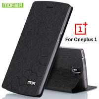 For Oneplus One Case Flip Glitter Leather Original Mofi Transparent Silicone TPU Luxury One Plus 1